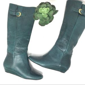 Steve Madden Green Leather Tall Boots